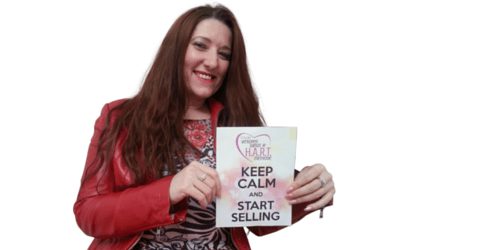 Cindy Vranken zegt Keep calm and start selling