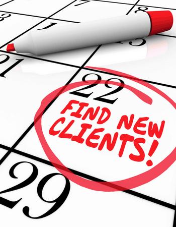 In agenda plannen: nieuwe klanten vinden