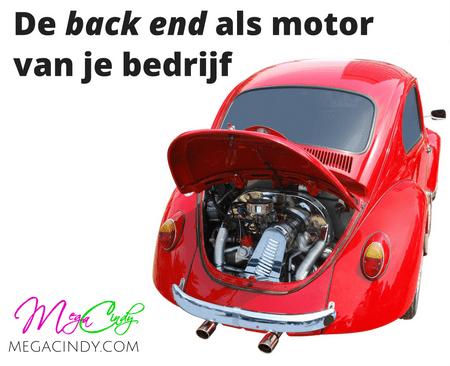 De back end fungeert als motor